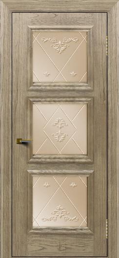Двери ЛайнДор Грация тон 41 стекло Прима бронза
