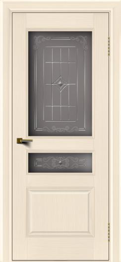 Двери ЛайнДор Калина беленый дуб тон 16 стекло Калина