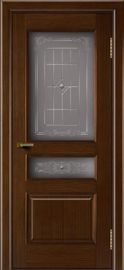 Двери ЛайнДор Калина орех тон 2 стекло Калина