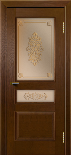 Двери ЛайнДор Калина тон 30 стекло Дамаск бронза 2