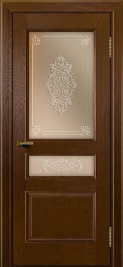 Двери ЛайнДор Калина тон 30 стекло Дамаск бронза