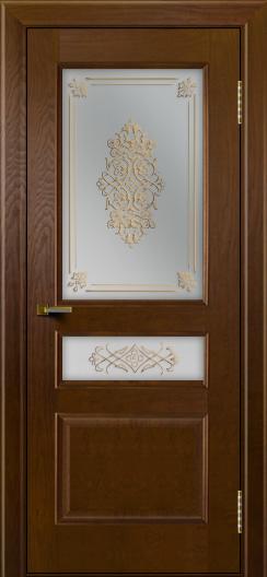 Двери ЛайнДор Калина тон 30 стекло Дамаск