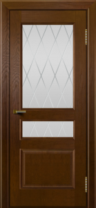 Двери ЛайнДор Калина тон 30 стекло Лондон