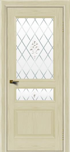 Двери ЛайнДор Калина тон 34 стекло Лилия