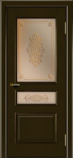 Двери ЛайнДор Калина тон 35 стекло Дамаск бронза 2
