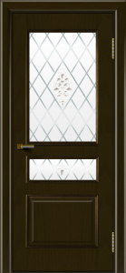 Двери ЛайнДор Калина тон 35 стекло Лилия