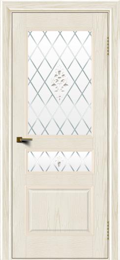 Двери ЛайнДор Калина тон 36 стекло Лилия