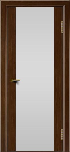 Двери ЛайнДор Камелия К орех тон 2 стекло Белое