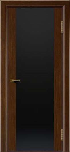 Двери ЛайнДор Камелия К орех тон 2 стекло Черное