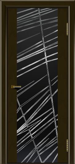 Двери ЛайнДор Камелия К тон 35 стекло Графит