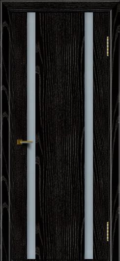 Двери ЛайнДор Камелия К2 черная эмаль тон 26 стекло Белое