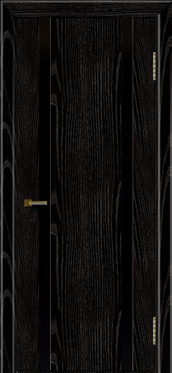 Двери ЛайнДор Камелия К2 черная эмаль тон 26 стекло Черное