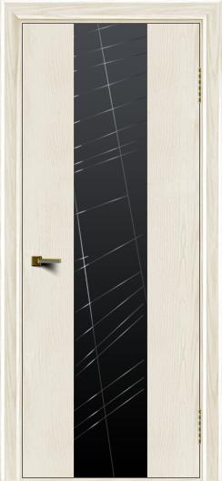 Двери ЛайнДор Камелия К4 тон 36 стекло Графит