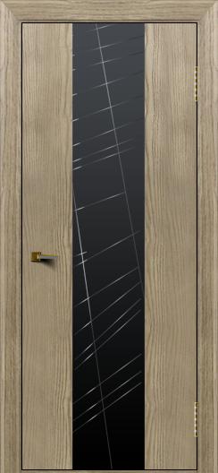 Двери ЛайнДор Камелия К4 тон 41 стекло Графит