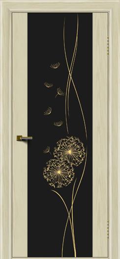 Двери ЛайнДор Камелия тон 34 стекло Одуванчик