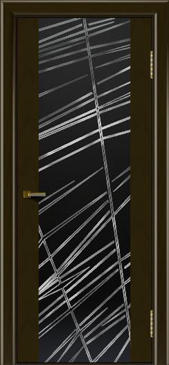 Двери ЛайнДор Камелия тон 35 стекло Графит