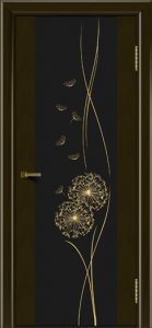 Двери ЛайнДор Камелия тон 35 стекло Одуванчик