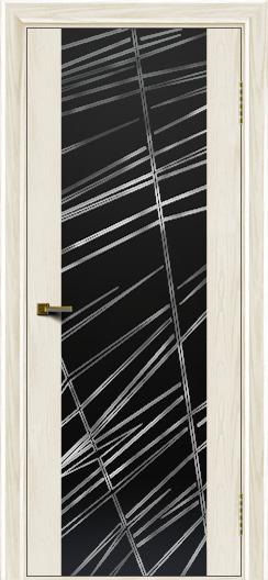 Двери ЛайнДор Камелия тон 36 стекло Графит