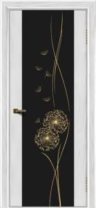 Двери ЛайнДор Камелия тон 38 стекло Одуванчик