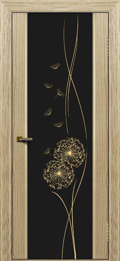 Двери ЛайнДор Камелия тон 40 стекло Одуванчик