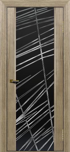 Двери ЛайнДор Камелия тон 41 стекло Графит