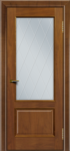 Двери ЛайнДор Кантри американский орех тон 23 стекло Лондон