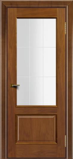 Двери ЛайнДор Кантри американский орех тон 23 стекло Решетка