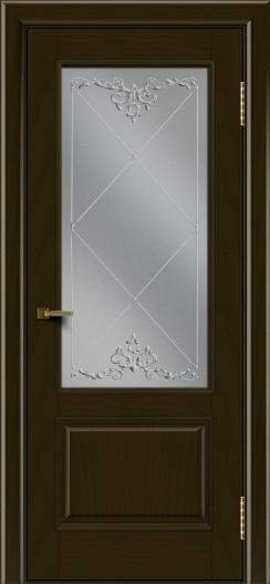 Двери ЛайнДор Кантри тон 35 стекло Узор