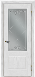 Двери ЛайнДор Кантри тон 38 стекло Узор