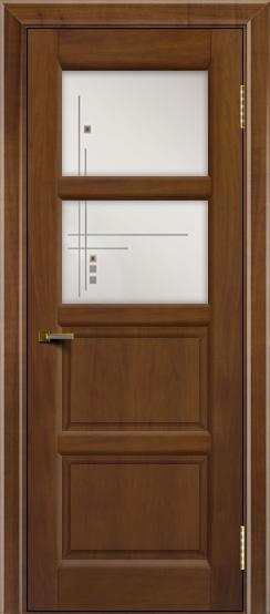 Двери ЛайнДор Классика 2 американский орех тон 23 стекло Классика 2