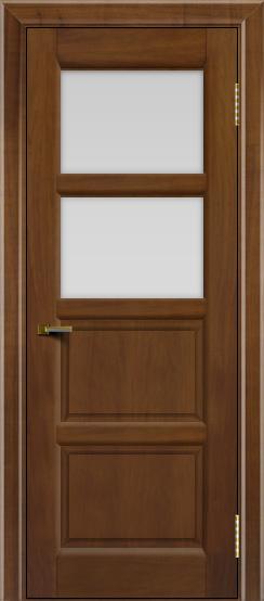 Двери ЛайнДор Классика 2 американский орех тон 23 стекло белое 2