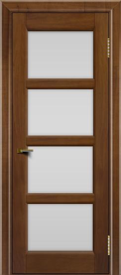 Двери ЛайнДор Классика 2 американский орех тон 23 стекло белое 4