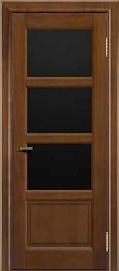 Двери ЛайнДор Классика 2 американский орех тон 23 стекло черное 3