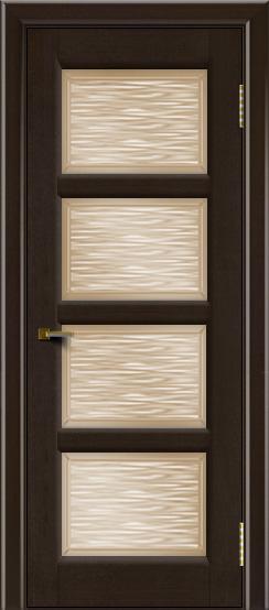Двери ЛайнДор Классика 2 венге тон 12 стекло Волна бронза