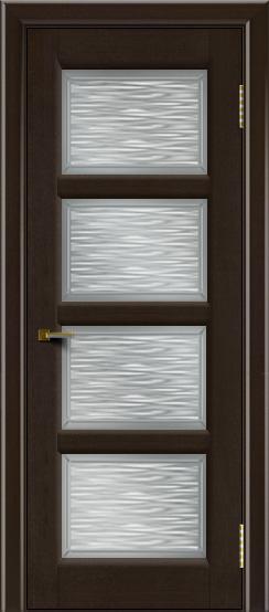 Двери ЛайнДор Классика 2 венге тон 12 стекло Волна сатин