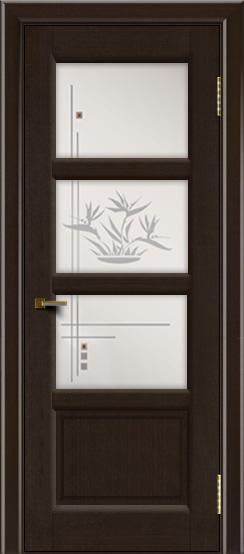 Двери ЛайнДор Классика 2 венге тон 12 стекло Классика 3