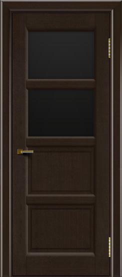 Двери ЛайнДор Классика 2 венге тон 12 стекло черное 2