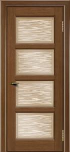 Двери ЛайнДор Классика 2 дуб тон 5 стекло Волна бронза