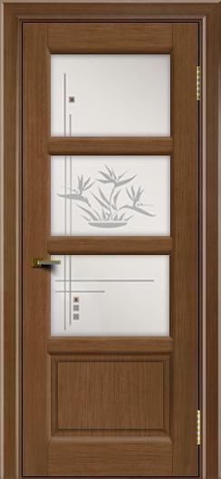Двери ЛайнДор Классика 2 дуб тон 5 стекло Классика 3