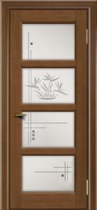 Двери ЛайнДор Классика 2 дуб тон 5 стекло Классика 4