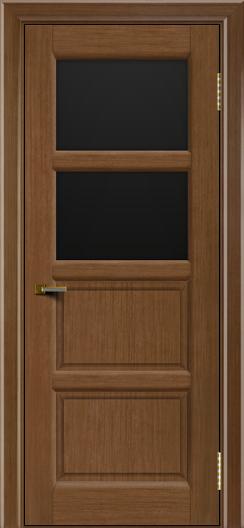 Двери ЛайнДор Классика 2 дуб тон 5 стекло черное 2