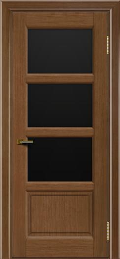 Двери ЛайнДор Классика 2 дуб тон 5 стекло черное 3
