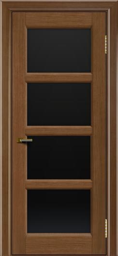 Двери ЛайнДор Классика 2 дуб тон 5 стекло черное 4