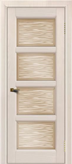 Двери ЛайнДор Классика 2 жемчуг тон 27 стекло Волна бронза