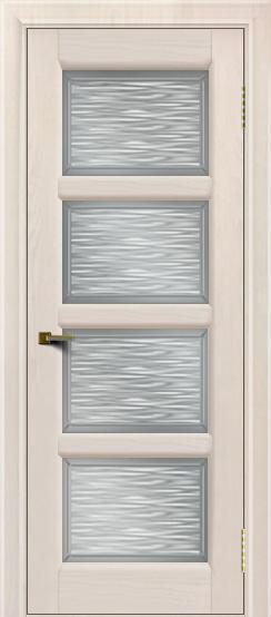 Двери ЛайнДор Классика 2 жемчуг тон 27 стекло Волна сатин