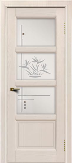 Двери ЛайнДор Классика 2 жемчуг тон 27 стекло Классика 3