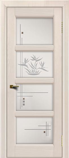 Двери ЛайнДор Классика 2 жемчуг тон 27 стекло Классика 4