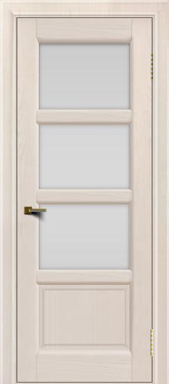 Двери ЛайнДор Классика 2 жемчуг тон 27 стекло белое 3