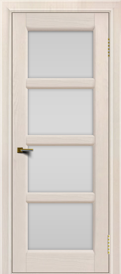 Двери ЛайнДор Классика 2 жемчуг тон 27 стекло белое 4