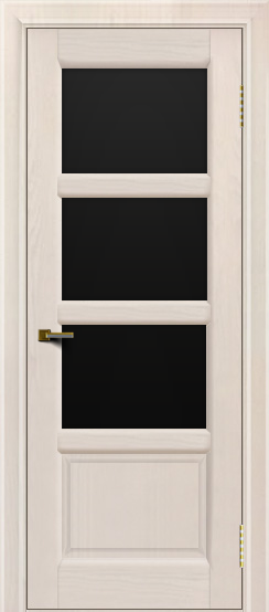 Двери ЛайнДор Классика 2 жемчуг тон 27 стекло черное 3